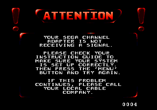[Program] Sega Channel (USA) Title Screen